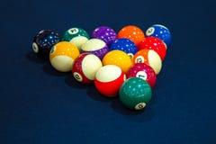 Kleurrijke biljartballen Royalty-vrije Stock Foto's