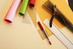 Kleurrijke bindende materialen Stock Fotografie