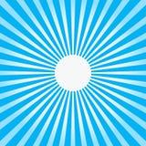Kleurrijke blauwe de stijl abstracte achtergrond van de straalzonnestraal Royalty-vrije Stock Foto