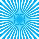 Kleurrijke blauwe de stijl abstracte achtergrond van de straalzonnestraal Stock Foto's