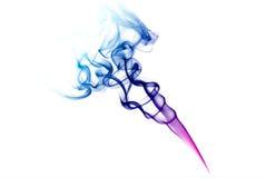 Kleurrijke blauwe en purpere rook Royalty-vrije Stock Afbeelding