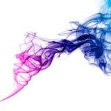 Kleurrijke blauwe en purpere rook Stock Foto's