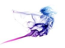 Kleurrijke blauwe en purpere rook Stock Fotografie