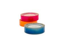 Kleurrijke blauwe roze sinaasappel van de plakband de zelfklevende groep Stock Afbeelding