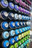 Kleurrijke blikken van verf Stock Afbeelding