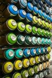 Kleurrijke blikken van verf Royalty-vrije Stock Afbeelding