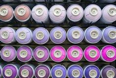 Kleurrijke blikken van verf Royalty-vrije Stock Fotografie
