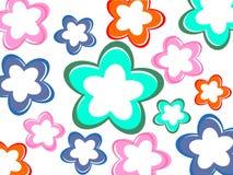 Kleurrijke bloemachtergrond Stock Foto