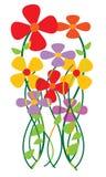 Kleurrijke Bloemen Stock Foto