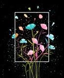 Kleurrijke bloemen abstracte achtergrond vector illustratie