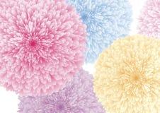 Kleurrijke bloemen op witte vectorillustratie als achtergrond royalty-vrije illustratie