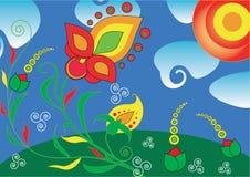 Kleurrijke bloemenachtergrond Royalty-vrije Stock Foto