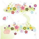 Kleurrijke bloemenachtergrond Stock Fotografie