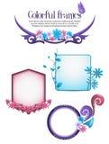 Kleurrijke bloemenframes Royalty-vrije Stock Fotografie