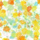 Kleurrijke bloemengiftomslag Stock Foto's