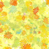 Kleurrijke bloemengiftomslag Stock Afbeelding