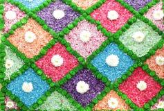 Kleurrijke bloemmuur royalty-vrije illustratie