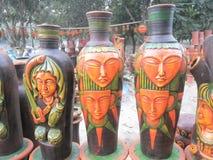 Kleurrijke Bloempotten Royalty-vrije Stock Afbeelding