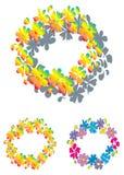 Kleurrijke bloemring Stock Foto's
