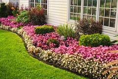 Kleurrijke bloemtuin royalty-vrije stock foto