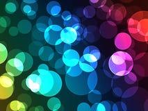 Kleurrijke Bokeh Dot Lights Effect met DE-Nadruk Glo Stock Illustratie