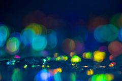 Kleurrijke bokeh omcirkelt lensgloed verlichte gloed royalty-vrije stock fotografie