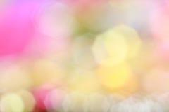 Kleurrijke bokeh van Kerstmislichten Stock Afbeelding