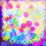 Kleurrijke bokehachtergrond Stock Afbeelding
