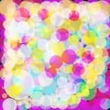Kleurrijke bokehachtergrond Stock Afbeeldingen