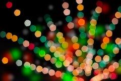 Kleurrijke bokehachtergrond Stock Foto