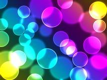 Kleurrijke bokehachtergrond Royalty-vrije Stock Foto