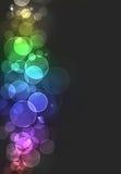 Kleurrijke bokehuitbarsting Royalty-vrije Stock Afbeelding