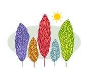 Kleurrijke bomen Royalty-vrije Stock Fotografie