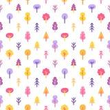 Kleurrijke bomen in het park naadloze patroon Royalty-vrije Stock Foto's