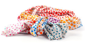 Kleurrijke bont Indische geïsoleerde sjaal Royalty-vrije Stock Fotografie
