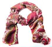 Kleurrijke bont Indische geïsoleerde sjaal Stock Afbeelding