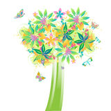 Kleurrijke boom Royalty-vrije Stock Fotografie