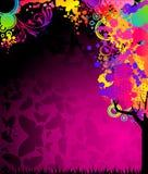 Kleurrijke boom met vlinders Stock Fotografie