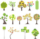 Kleurrijke boom. Vector illustratie Stock Fotografie