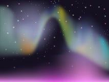 Kleurrijke borealis van de Dageraad royalty-vrije illustratie
