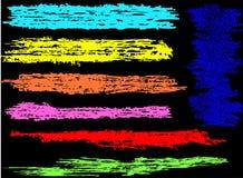 Kleurrijke borstelsvector Stock Afbeeldingen
