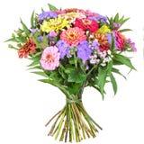 Kleurrijke bos van bloemen met dahlia en Zinnia Royalty-vrije Stock Fotografie