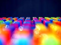 Kleurrijke bouwstenen stock afbeeldingen