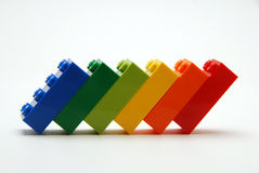 Kleurrijke bouwstenen Royalty-vrije Stock Afbeeldingen