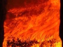 Kleurrijke brand in een industriële oven Royalty-vrije Stock Fotografie