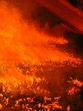 Kleurrijke brand in een industriële oven Royalty-vrije Stock Foto