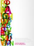 Kleurrijke brieven Stock Afbeelding