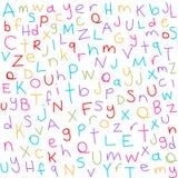 Kleurrijke brieven royalty-vrije illustratie