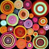 Kleurrijke broodjes van stof Royalty-vrije Stock Afbeelding