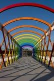 Kleurrijke brug Stock Afbeelding
